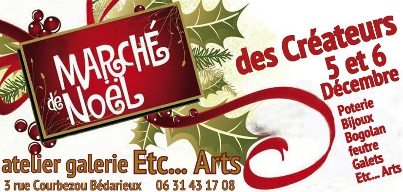 5 et 6 décembre, l'ATELIER GALERIE ETC…ARTS organise le marché de noël des créateurs - démonstration au chalumeau par ANtje Beurtheret