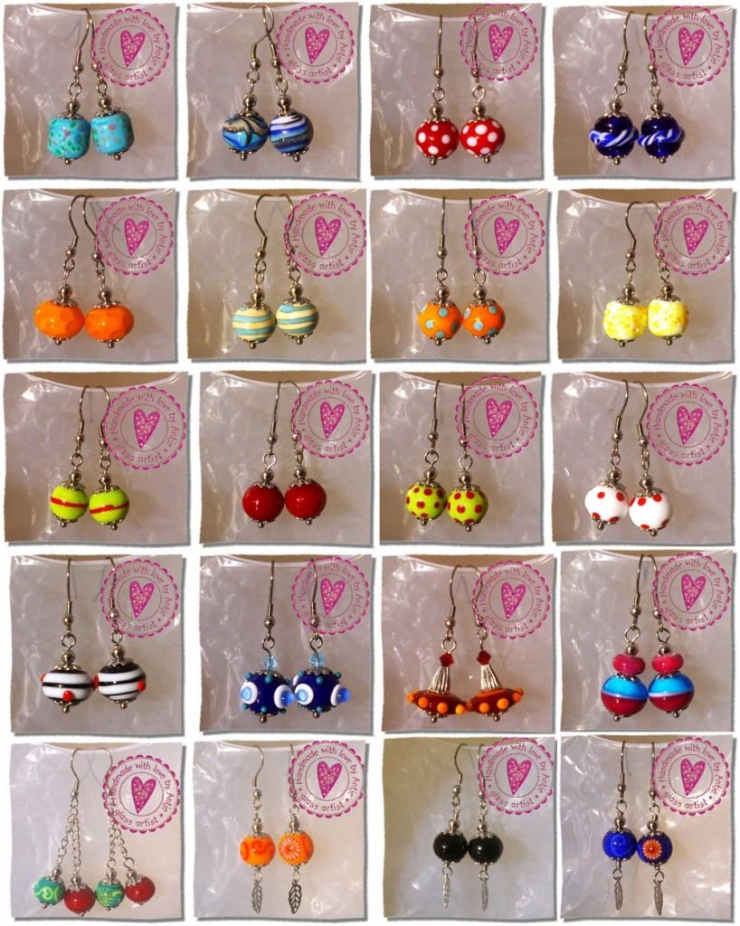 bijoux avec des perles au chalumeau, crées par Antje Beurtheret