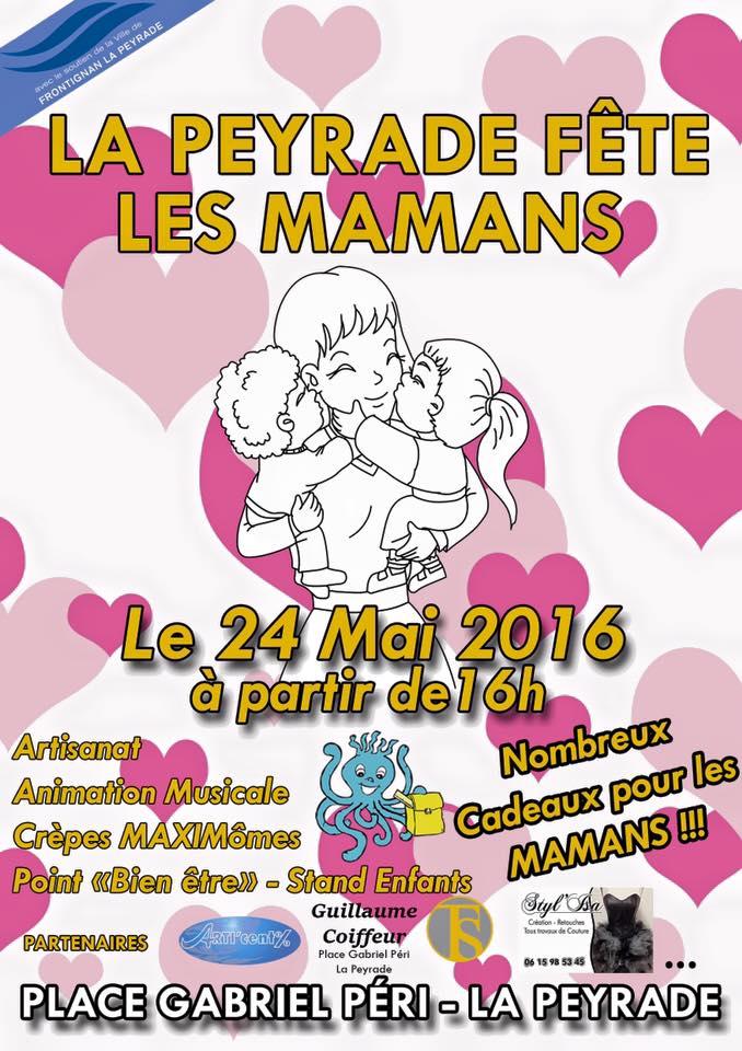 """On n'oubli pas l'événement mardi soir """"La Peyrade fête les mamans"""""""